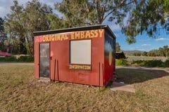 Аборигенное посольство шатра, Канберра, столица Австралии Стоковое фото RF