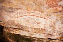 аборигенные утесы Стоковое Фото