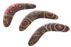 аборигенный бумеранг Австралии Стоковое Изображение RF