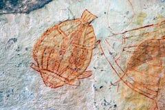 аборигенный утес Австралии искусства Стоковые Фотографии RF