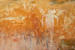 аборигенный утес искусства Стоковые Изображения RF