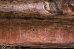 аборигенный утес искусства Стоковая Фотография