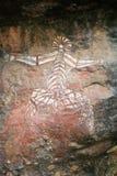 аборигенный утес парка kakadu Австралии искусства Стоковые Изображения RF