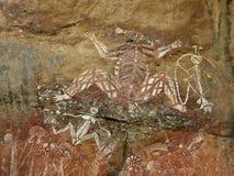 аборигенный утес kakadu искусства Стоковое фото RF
