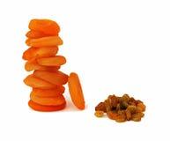 абрикосы высушили rasins Стоковое фото RF