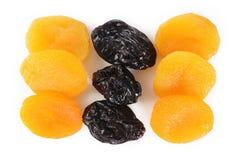 абрикосы высушили сливы Стоковая Фотография