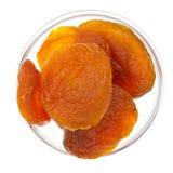 абрикосы bowl высушенное стекло Стоковые Изображения
