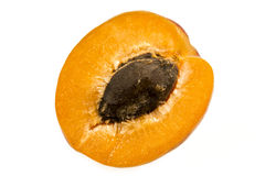 Абрикос половинный Стоковое фото RF