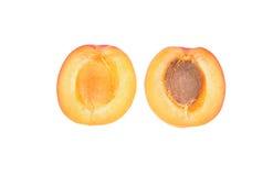абрикос половинный Стоковые Фотографии RF