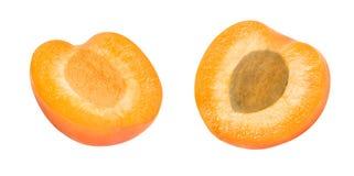 Абрикос 2 свежий кусков Стоковая Фотография