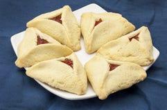 абрикос hamantaschen печенье Стоковая Фотография
