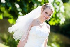абсолютное совершенное венчание портрета Стоковая Фотография