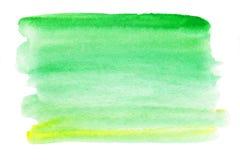 абстрактная акварель выплеска D влажного Watercolour - голубой и зеленый Стоковая Фотография