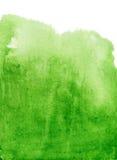 абстрактная акварель зеленого цвета предпосылки Стоковая Фотография