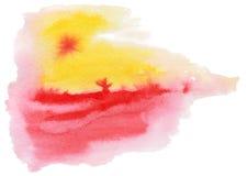 абстрактная акварель картины Стоковое Фото