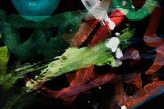 Абстрактная акварель любит предпосылка Стоковое фото RF