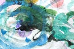 Абстрактная акварель любит предпосылка Стоковые Фото