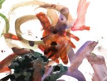 Абстрактная акварель любит предпосылка Стоковая Фотография RF
