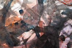 Абстрактная акварель любит предпосылка Стоковое Изображение RF