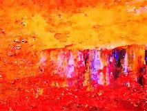 Абстрактная акварель на бумаге Стоковая Фотография