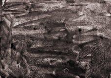 Абстрактная акварель на бумажной текстуре как предпосылка В тонне Sepia Стоковые Фотографии RF