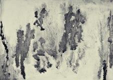Абстрактная акварель на бумажной текстуре как предпосылка В тонне Sepia Стоковое Изображение