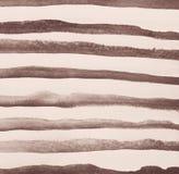 Абстрактная акварель на бумажной текстуре как предпосылка В тонне Sepia Стоковое Фото