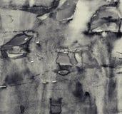 Абстрактная акварель на бумажной текстуре как предпосылка В тонне Sepia Стоковые Изображения RF