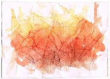 абстрактная акварель померанца предпосылки Стоковая Фотография RF