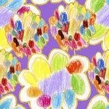 абстрактная акварель предпосылки цветастые цветки Аннотация Стоковая Фотография