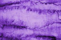Абстрактная акварель сирени на бумажной текстуре как предпосылка Стоковое Изображение