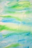 абстрактная акварель текстуры бумаги предпосылки Стоковая Фотография