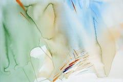абстрактная акварель Стоковая Фотография