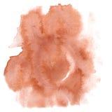 абстрактная акварель выплеска коричневая акварель падения изолировала помарку для вашего искусства дизайна Стоковые Изображения RF