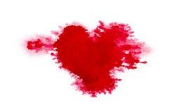 абстрактная акварель красного цвета предпосылки Стоковое Изображение