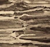 Абстрактная акварель на бумажной текстуре как предпосылка В тонне Sepia Стоковые Фото