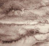 Абстрактная акварель на бумажной текстуре как предпосылка В Sepia к Стоковые Изображения RF