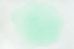 абстрактная акварель предпосылки Чувствительные тени нежных зеленых цветов весны, нарисованной вручную, бумажной текстуры Художес Стоковая Фотография