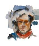 Абстрактная акварель человека или женщины Стоковая Фотография RF