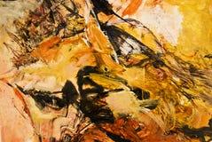 абстрактная акриловая картина экспрессиониста Стоковое Изображение