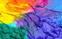 абстрактная акриловая краска предпосылки Стоковая Фотография