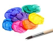 абстрактная акриловая краска щетки Стоковые Фотографии RF