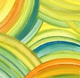 Абстрактная акриловая предпосылка картины Стоковые Изображения