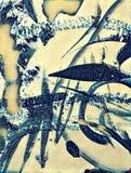 Абстрактная акриловая картина иллюстрация штока