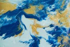 Абстрактная акриловая текстура картины цвета Стоковые Фотографии RF