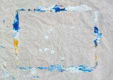 Абстрактная акриловая текстура картины цвета Стоковые Изображения