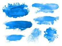 Абстрактная акриловая щетка штрихует помарки Стоковые Фотографии RF