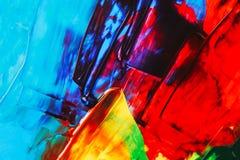 Абстрактная акриловая яркая предпосылка Стоковая Фотография RF