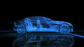 Абстрактная анимация автомобиля 3D Стоковое Изображение