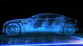 Абстрактная анимация автомобиля 3D Стоковое фото RF